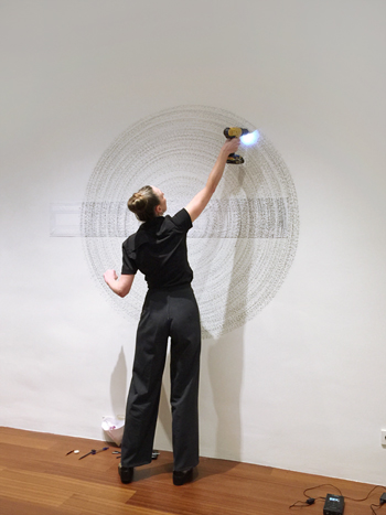 Alexandra Roozen studioview wall drawing,